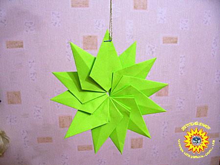Оригами елочная игрушка своими руками 125