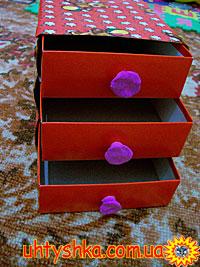 Комод для игрушек из картона своими руками